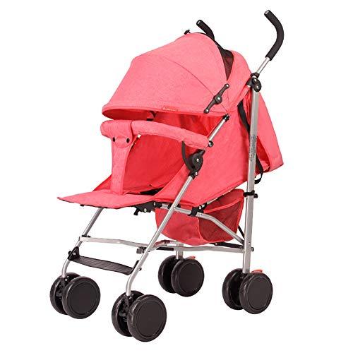 Poussetter Yhz@ La de bébé, Le Pliage léger de Chariot Peut s'asseoir et Se Coucher vers Le Bas Le Chariot de bébé (Couleur : Pink)