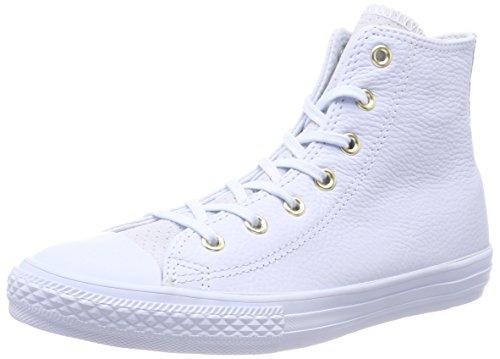 Converse Unisex-Kinder CTAS HI Hohe Sneaker, Weiß (Blue Tint/Blue Tint/Blue Tint 454), 33.5 EU