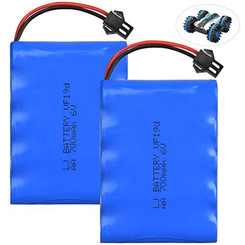 allcaca Baterías RC Recargable 6V 700mAh para Coche RC-2 Piezas