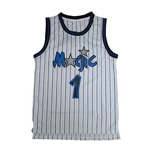 FGSD Jersey de Baloncesto Masculino, Maddie 1# Magic Transpirable sin Mangas Deportivas de Chaleco de galería de Baloncesto (S-XXL) White-XXL