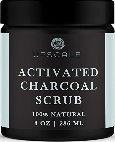 Activated Charcoal Face and Body Scrub- Blackhead Pore...