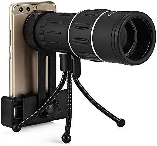 Bierglaks Monocular Starscope Telescope 16x52 Monocular Double Focus Zoom Ajuste con Soporte para teléfono móvil Visión Nocturna Impermeable Monocular Set Telescope