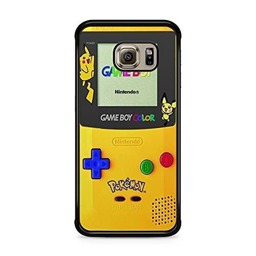 Coque pour Samsung Galaxy S6 Edge Pokemon go Team Pokedex Pikachu Manga Tortank Game Boy Color Salameche Noctali Valor Mystic Instinct Case 5