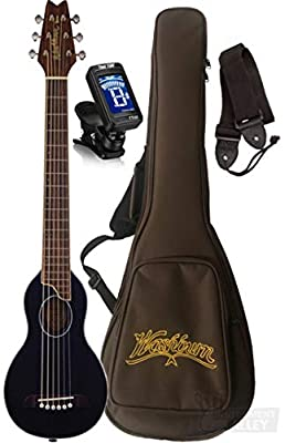 Washburn RO10SK-A Rover Spruce Top Acoustic Travel Guitar with Bag