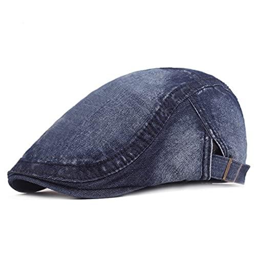 LHL Gorra de los hombres Boinas Sólidas Sombreros Para las Mujeres Golf Conducción Sol Plano Demin Gatsby Hiedra Sombrero de Verano Taxista Newsboy Cap