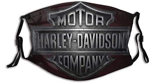Harley Davidson Old SteelLogo Pasamontañas Mascarilla para hombre con filtro ajustable Hecho en Estados Unidos