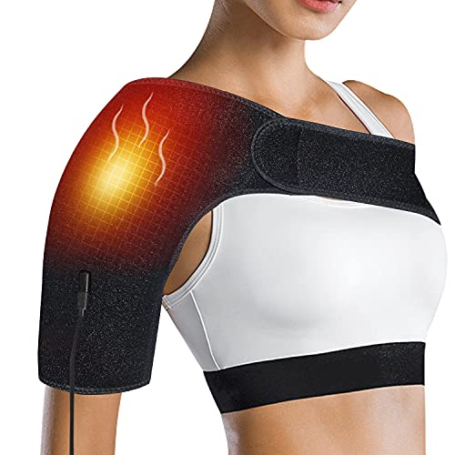 Tashkummy Shoulder Heating Pad for Pain Relief,Heated Shoulder Brace for Frozen Muscles - Therapy Heating Wrap for Relief,Auto Shut Off and Smart Cord
