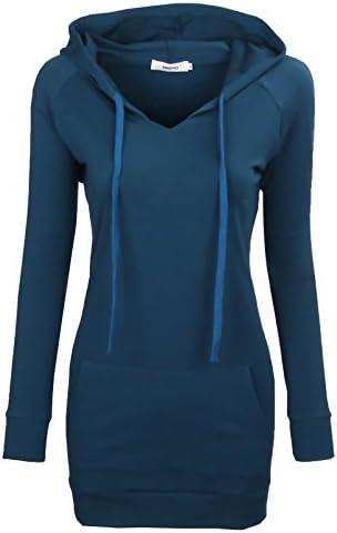 Women Hoody Sweatshirts Bepei Long Sleeves Pullover Hoodies for Leggings Blue XL product image