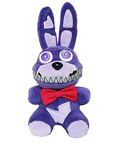 FNAF Plushies - Full Characters(7 Inch) - Five Nights At Freddy's Plush: Freddy, Bear, Chica, Bonnie, Clown, Foxy Plush - Stuffed Bear - Fnaf Plush - Kid's Toys -Gifts For FNAF Fans (Nightmare Bonnie)