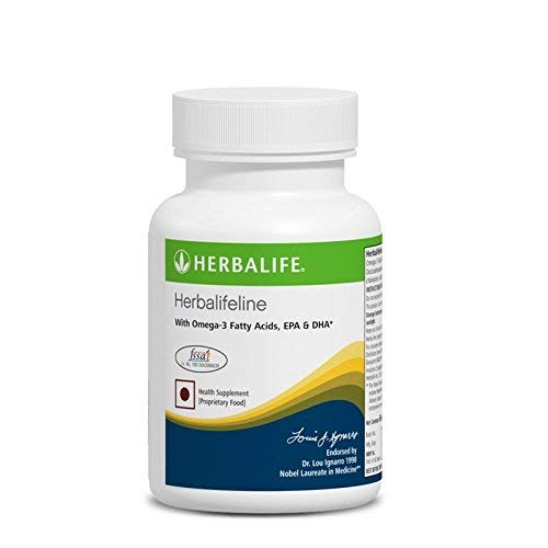 Herbalifeline with Omega 3 Fatty Acids EPA DHA 60 Softgles (Shipping from in India) DHL