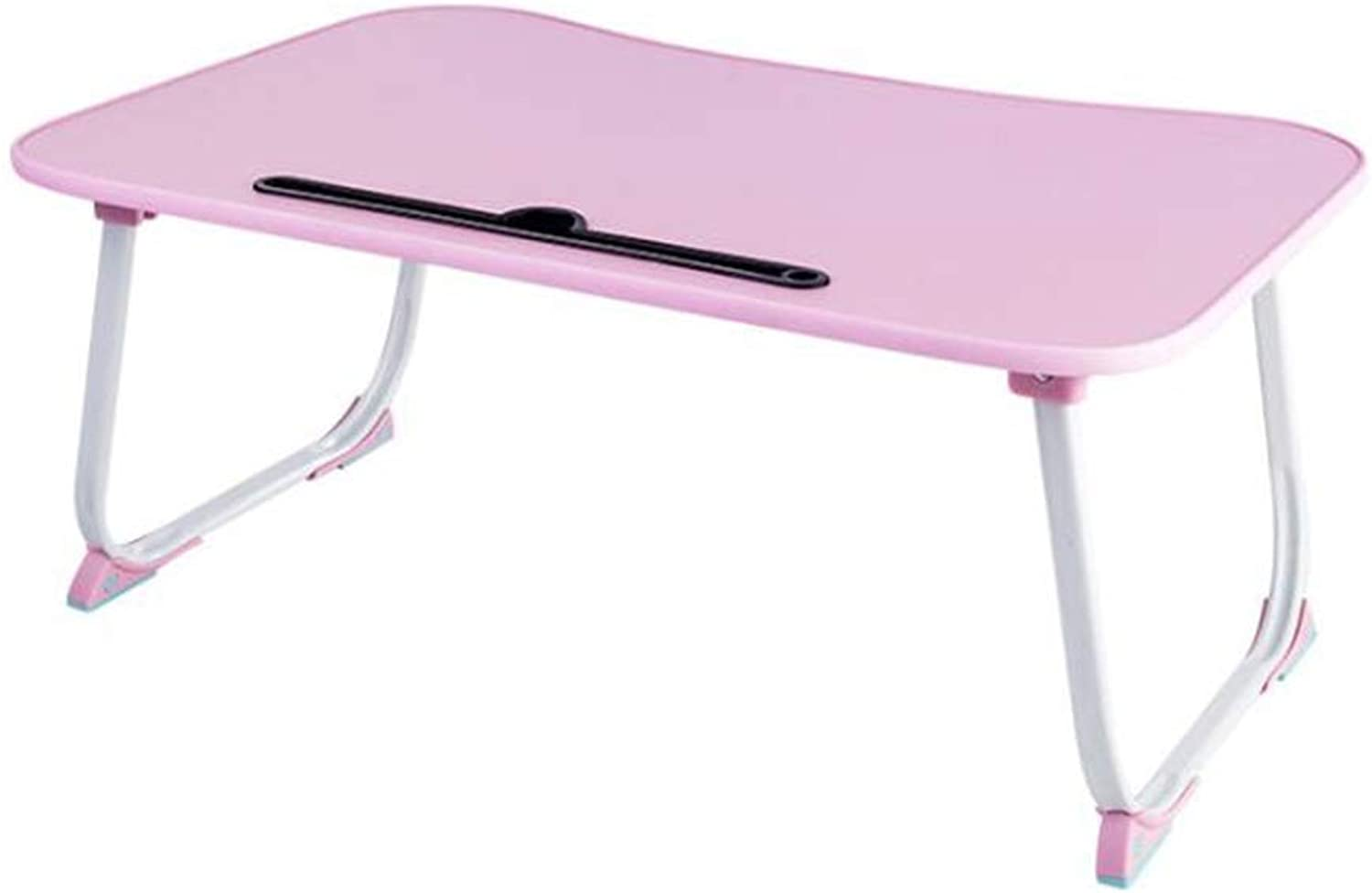 Laptop Stand Bed Table, Lazy Foldable Side Table Ortable Mobile Computer Desk, Pink