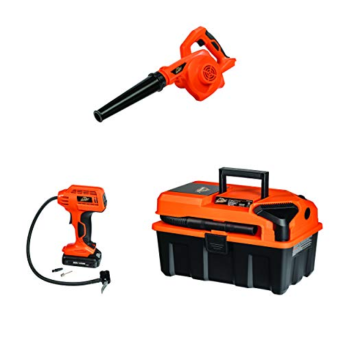 ArmorAll CKA203A, 20V Cordless 3-Tool Kit 20V Wet/Dry Utility Shop Vacuum