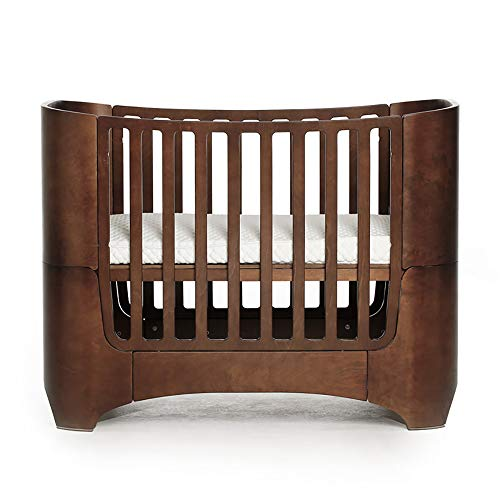 PYXZQW 4-in-1 Convertible Crib Solid Wood Portable Easy Installation with Latex Pad,Brown