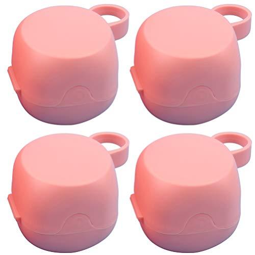 DOITOOL 4Pcs Caixa Portátil Recipiente Caso Escudo Chupeta Do Bebê Mordedor Chupeta Chupeta Clipe Titular Chupeta para Viagens Ao Ar Livre (Aleatório Cor)