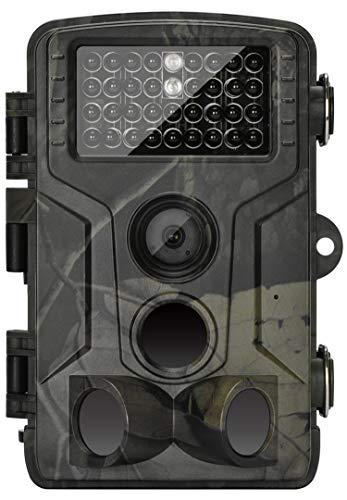Fotocamera da Caccia 20MP 1080P HD Impermeabile, 120°Ampia visuale Fototrappola Infrarossi Invisibili 42 IR LED, Macchine fotografiche da caccia Visione Notturna fino a 20m