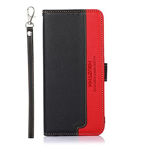 SCRENDY Handyhülle für Sony Xperia 10 III Hülle, RFID Schutzhülle, Leder Handytasche, Klapphülle Tasche, Magnetverschluss, Lederhülle Hülle Cover für Sony Xperia 10 III, Schwarz