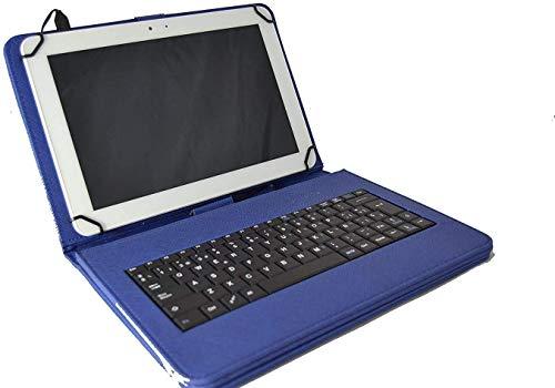 theoutlettablet® Funda con Teclado extraíble en español (Incluye Letra Ñ) Type-C para Tablet Samsung Galaxy Tab S4 10,5 / Tab S3 9,7' - Color Azul