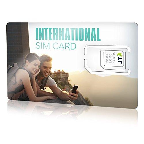 Carte Sim Internationale Ekit Avec 8 Pour Leurope Lamérique Du Nord Les Caraïbes Et Plus Brand Change Toekit Jt