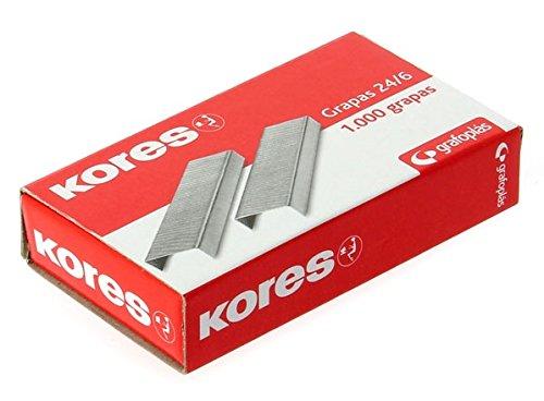Kores 00000900 - Pack de 1000 grapas galvanizadas, 22/6-24/6