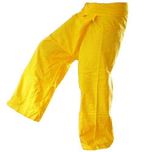 PANASIAM Thai Fisherman Pants, Yellow, L
