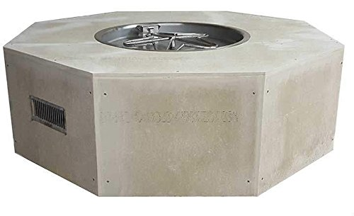 Best Price Hearth Products Controls Octagon Unfinished Gas Fire Pit Enclosure with Electronic Igniti...