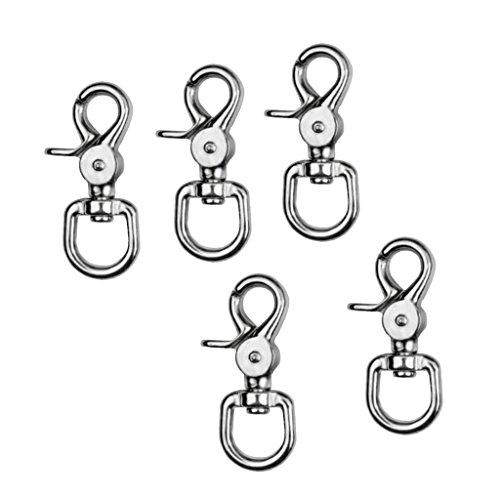 HomeDecTime 5pcs Multipurpose Swivel Clip Fastener Spring Snap Buckle Hook Hanging Keychain Sturdy
