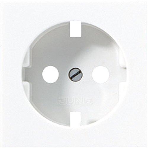 Jung Zentralplatte A 520 WW PL für SCHUKO-Steckdose A Plus Abdeckung/Bedienelement für Installationsschalterprogramme 4011377165656