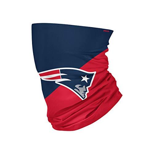 NFL FOCO New England Patriots Neck Gaiter, One Size, Big Logo