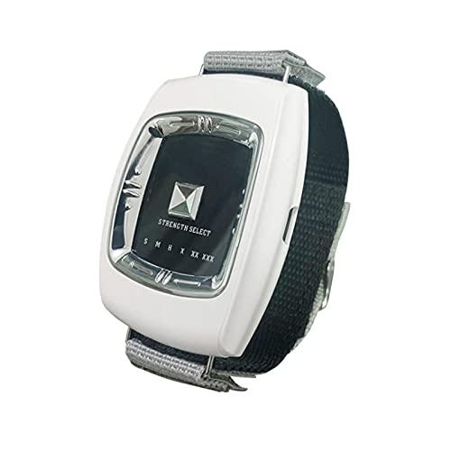 GJXJY Sleep Connection Wristband, USB Recargable Dejar para Roncar Dispositivos Antirronquidos con 3 Modos y 6 Niveles, 2021 Muñequera Antirronquidos para Hombres Y MujeresWhite
