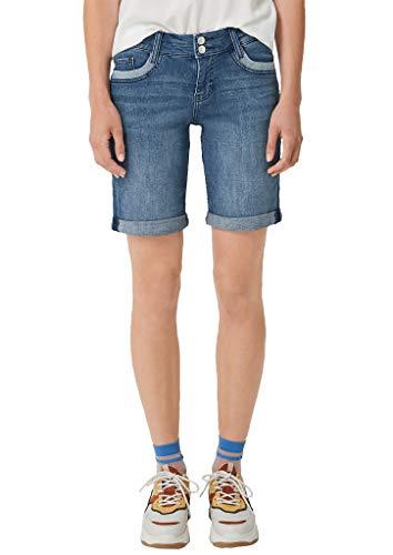 s.Oliver Damen Smart Bermuda: Stretchige Jeansshorts dark blue stretche 46
