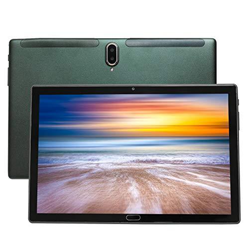 Tableta 4G LTE de 10 Pulgadas, Deca Core Android 10.0 certificada por Google GMS 4GB RAM, 64GB ROM Tableta IPS HD, 8000 mAh, Doble Altavoz estéreo, WiFi / Bluetooth / GPS / Type-c (Verde)