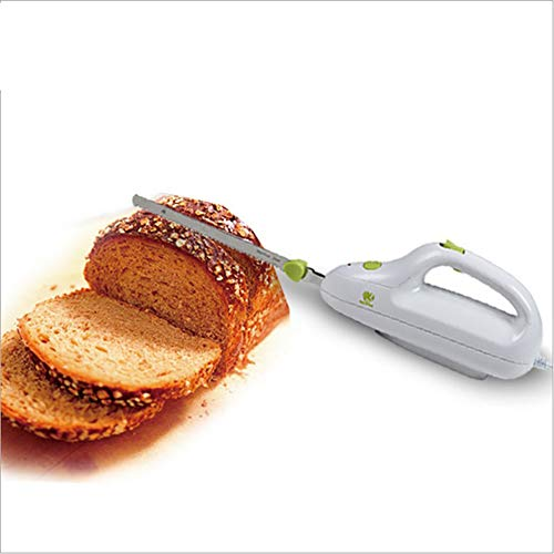 LaMei Yang Cuchillo de Pan eléctrico para Cocina, Cuchilla de Acero Inoxidable,...