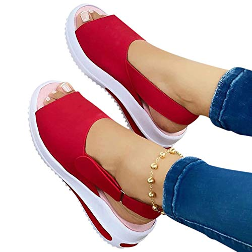 Women's Beautiful Shoes 2021 Fashion Fish Mouth Flat-Heeled Beach Ladies Sandals Casual Slope Female Sandals