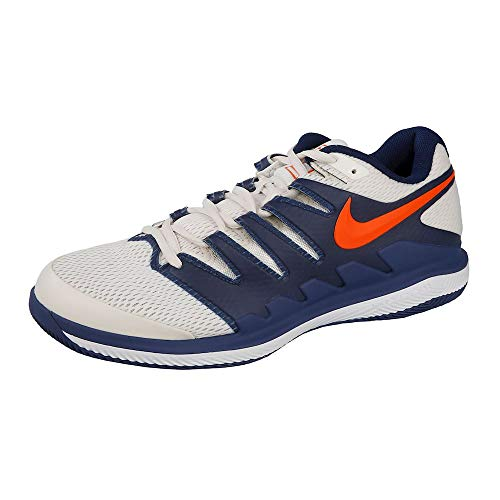 Nike Jungen Air Zoom Vapor X Hc Tennisschuhe, Mehrfarbig (Phantom/Orange Blaze/Blue Void/White 005), 37.5 EU