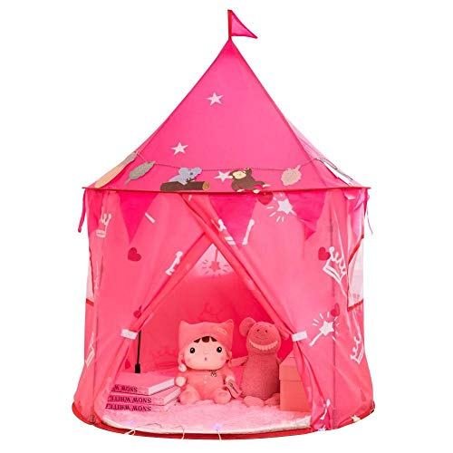 ZABB Princess Castle Play Tent, Unicorn Toys for Toddler and Kids, Indoor and Outdoor Games for Girls and Boys, Portable Playhouse, Teepee and Houses,Best Birthday Gifts for Children