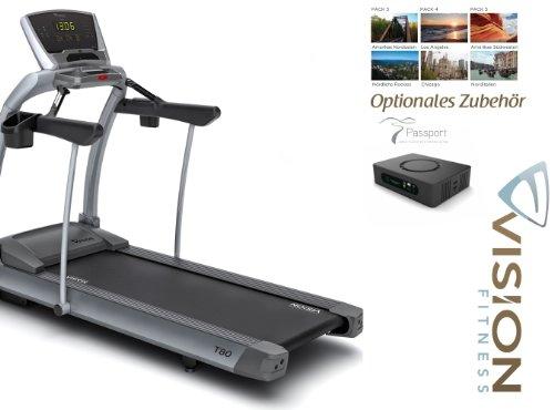 Vision Fitness T80 Classic Laufband - inkl. Aufbau, Polar Brustgurt und Bodenmatte