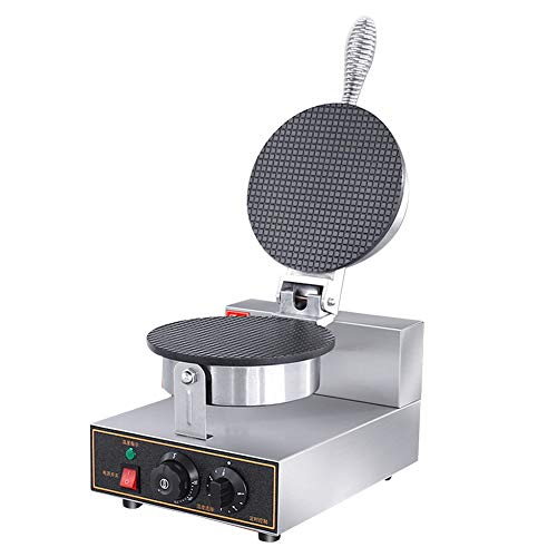 Great Deal! Waffle Cone Maker Ice Cream Cone Machine Iron Waffle Cones Non-Stick Plate with one mold, 50℃-250℃ Temp Adjustable
