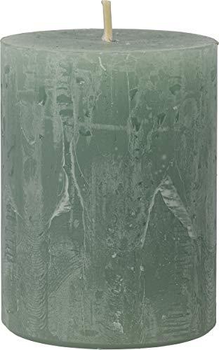 safe candle Rustic Kerze selbstverlöschend, 4 Stück, Höhe 8 cm/Ø 6 cm, 25 Std. Brenndauer (Smaragd)