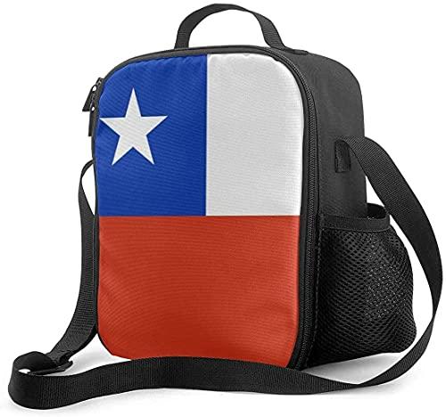 Isolierte Lunchtasche Flagge von Chile Kühltasche Tragbare Tragetasche Lunchbox Tasche für Schule Büro Outdoor