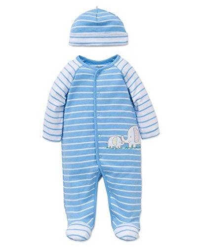 Little Me baby boys and Hat Footie, Elephant, 3 Months Pack of 1 US