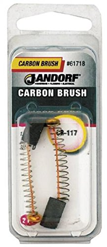 Manufacturers Direct 61718 1 Pack Motor Brush (Jandorf CB117, 1/2 in L X 1/4 in W X 3/16 in Thick, Carbon)