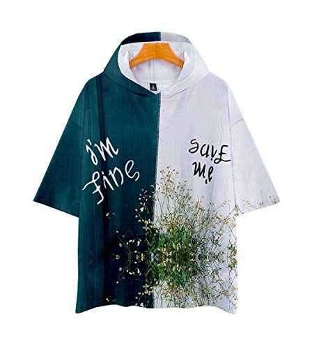 APHT Unisex 3D Giacca Fans Felpe con Cappuccio Fashion Cool Letter Stampa T-Shirt con Cappuccio Moda Paragrafo Breve Felpe