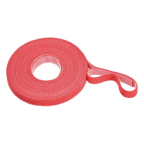 YeVhear - Cinta para cable reutilizable, con gancho y hebilla, 5,5 veces, color rojo