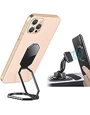 Universal Anillo Soporte para Teléfono Multifunción,Porta Móvil Coche Magnético Plegable,Soporte de Escritorio para Dispositivos Dentro de 12,9 Pulgadas (Negro)