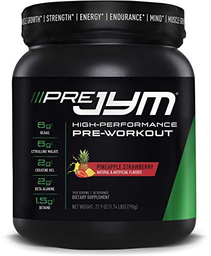 JYM Supplement Science Pre 30 Servings Pineapple Strawberry PRE30PS