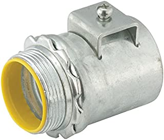 Hubbell-Raco 2511B5 Connector 5-Pack Zinc Vertical Set-Screw AC to Junction Box 1//2-Inch Knockout 3//8-Inch