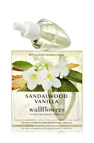 Bath & Body Works Sandalwood Vanilla Wallflowers Home Fragrance Refills, 2-Pack (1.6 fl oz total)