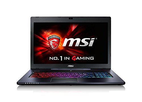 MSI GS70-6QE81 43,9 cm (17,3 Zoll) Laptop (Intel Core i7 6700HQ, 8GB RAM, 1TB HDD, NVIDIA GF GTX 970M, Win 10 Home) schwarz/grau