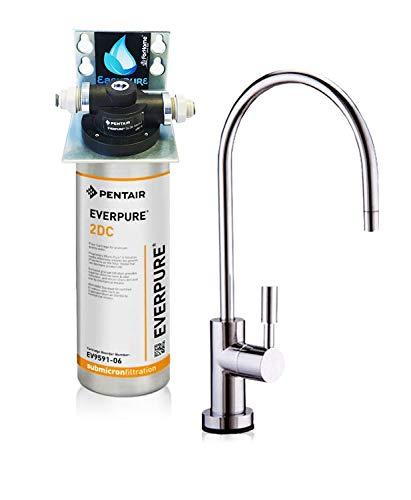 Wasserfilter System ForHome® EasyPure für die küche Mikrofiltrations Wasser Ultrafilter Anlage unter der Spüle Wasseraufbereiter Wasserfilter Untertisch Everpure 2DC