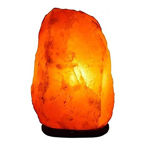 BTPDIAN 1,5-2 kg Lámpara de sal del Himalaya Natural |Reino Unido Certificado CE Viene con la sal cristalina del Himalaya lámpara del dormitorio feng shui suerte lámpara lámpara de mesa lámpara de noc